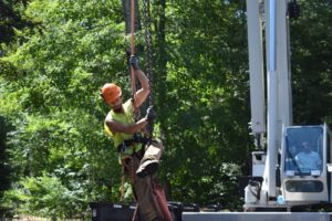 Andover, CT Tree Service and Removal - Eric's Tree Service Crane Ride